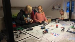 Callum bygger om roboten