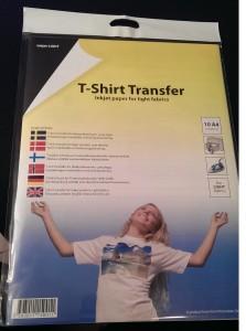 Inkjet T-shirt Transfer som vi brukte på skjortene våre