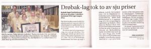 Selve artikkelen inne i avisen
