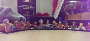 Legofigurer vi fikk av Brikkelauget